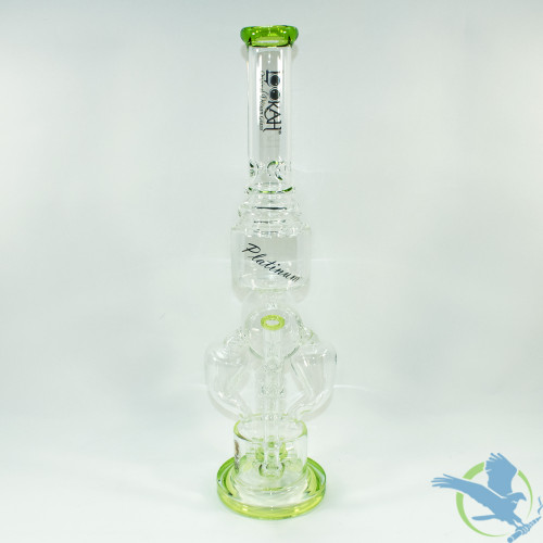 Lookah Glass Water Pipe Alien Design With Ice Catcher & Sprinkler Perc - 1429 Grams - 20.5 Inches - Assorted Colors [WPC769]