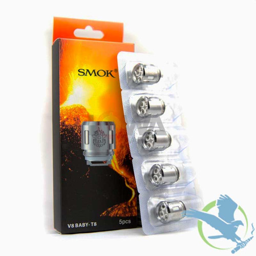 SMOK TFV8 Baby Tank Replacement Coils - Pack of 5 (MSRP $20.00 - $22.00)
