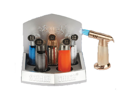 Scorch Torch 45 Degree 4 Torch Turbo Jet - Assorted Color - Display of 6 [Model 61468] (MSRP $20.00 each)