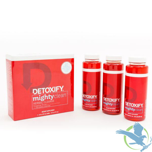 Detoxify Mighty Clean Herbal Cleanse - Three 8 fl. oz. Bottles (MSRP $80.00)