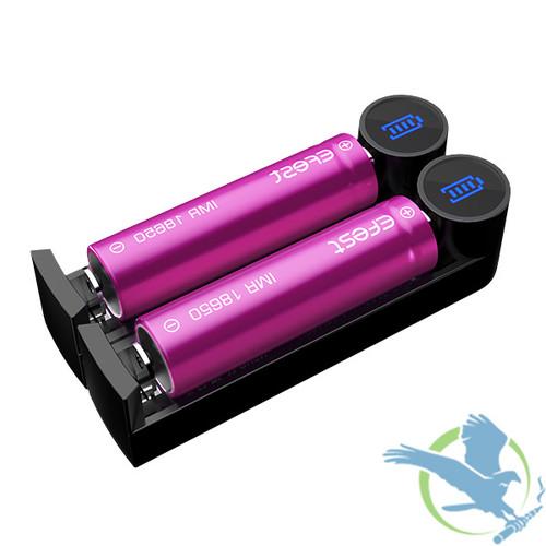 Efest Slim K2 - Dual Slot Battery Charger (MSRP $10.00)