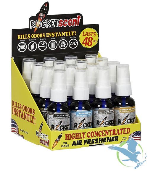 Rocket Scent Concentrated Air Freshener 1 Oz. Bottles - Pack Of 16 *Drop Ships* (MSRP $64.00)