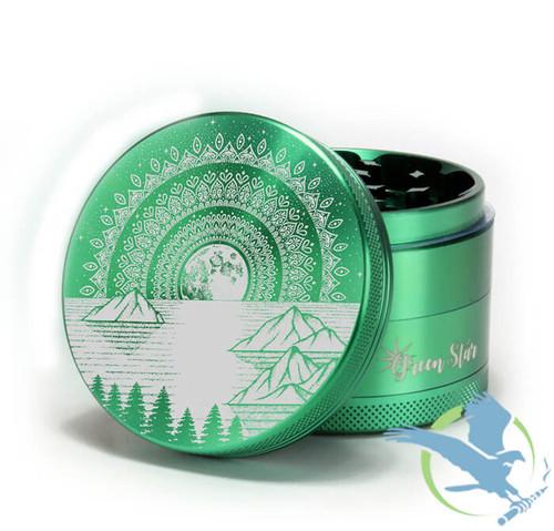 4 Piece Mountain Mandala Grinder By Green Star *Drop Ships* (MSRP $45.00)