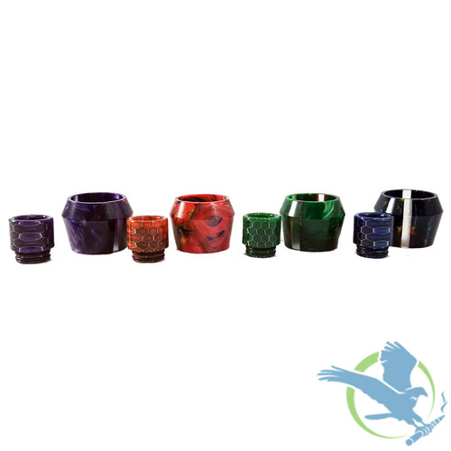 Resin Replacement Tube With Honeycomb Drip Tip - TFV8 X-Baby - Assorted Colors [AV-TF005C] (MSRP $12.00)