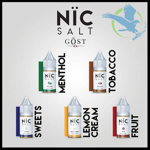 Nic Salt Nicotine Salt E-Liquid By Gost Vapor 30ML (MSRP $20 00)