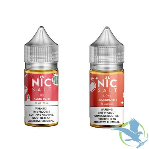 Nic Salt Nicotine Salt E-Liquid By Gost Vapor 30ML - Pomegranate - Candy Cane