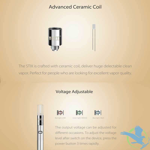 Yocan Stix 320mAh Leak Proof Oil Vaporizer Pen (MSRP $12 99)