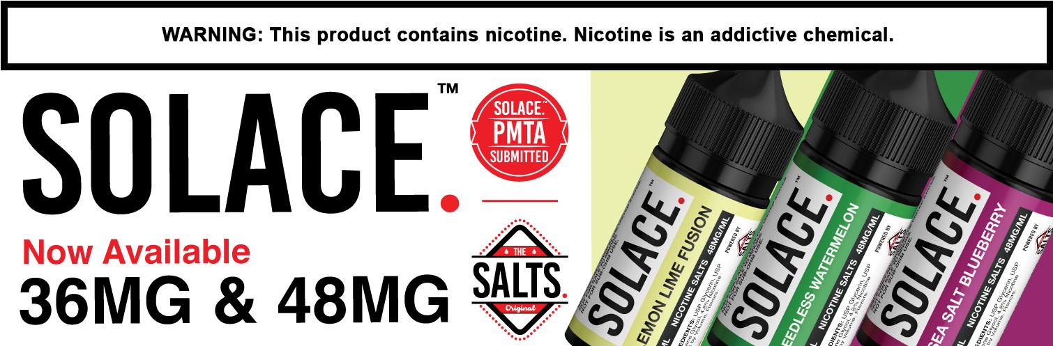 Solace Tobacco Nicotine Salts E-Liquid 30ML
