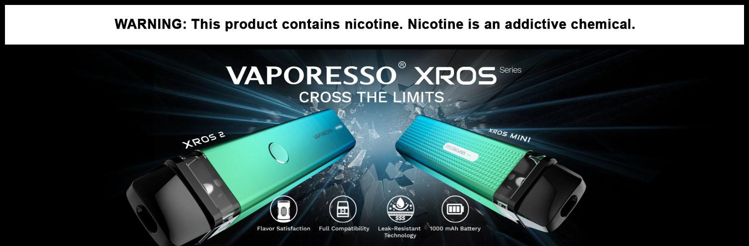 Vaporesso XROS 2 & XROS Mini 1000mAh Pod System Starter Kit With Refillable 2ML Pod