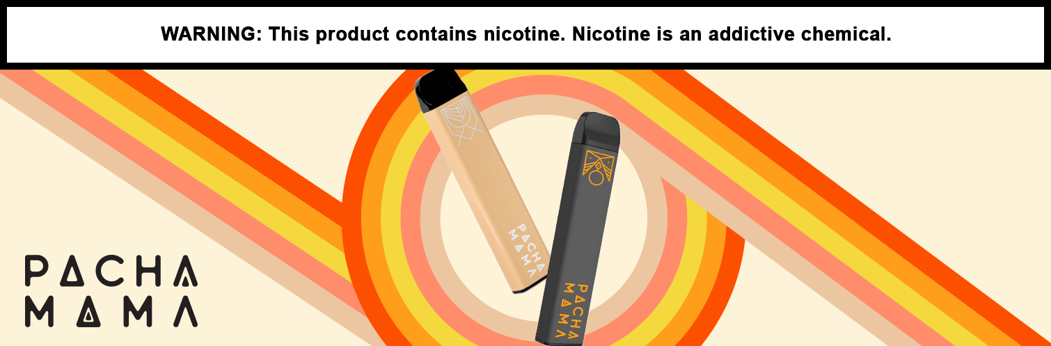 Pachamama 4ML 1200 Puffs 700mAh Prefilled Synthetic Nicotine Salt Disposable By Charlie's Chalk Dust - Display of 10