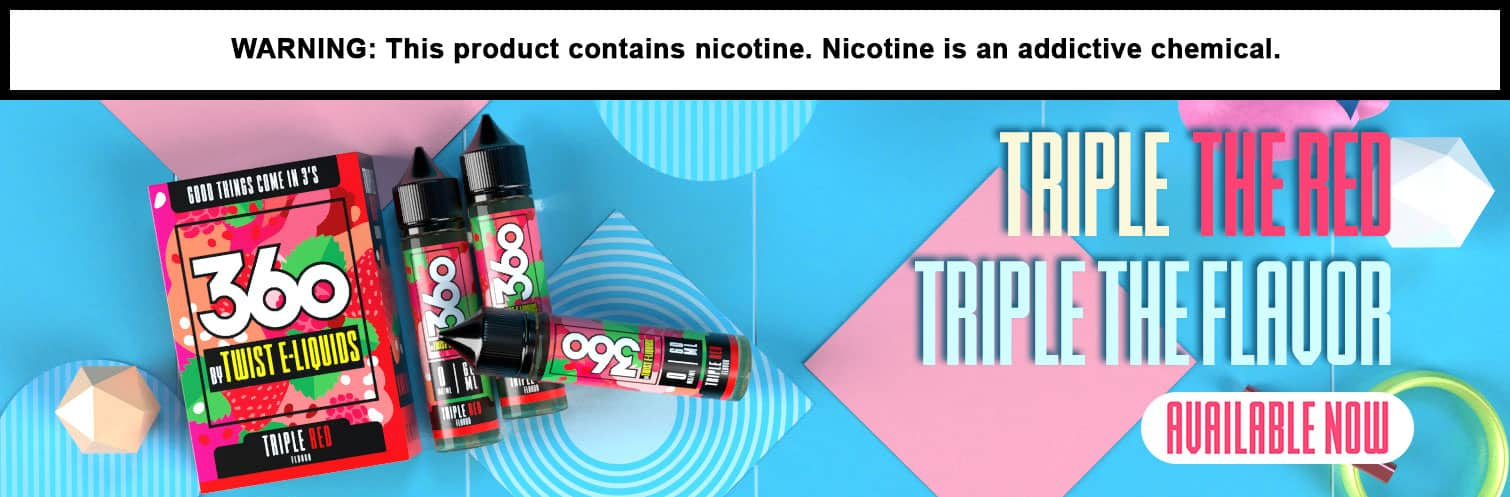 360 By Twist E-Liquids 180ML