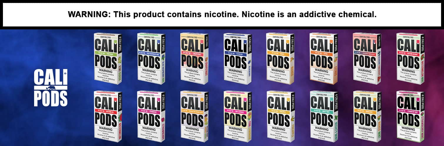 CALI PODS NICOTINE SALT 1ML JUUL COMPATIBLE PREFILLED REPLACEMENT PODS