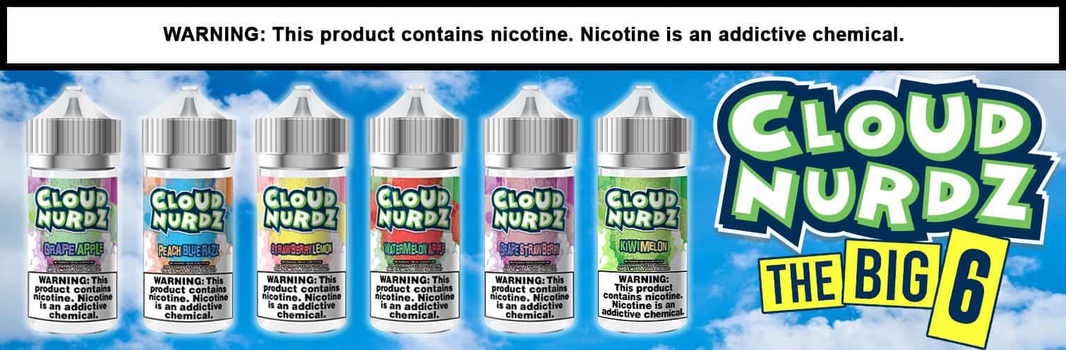 Cloud Nurdz E-liquids 100ml