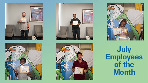 August 2020 Employees of the Month!