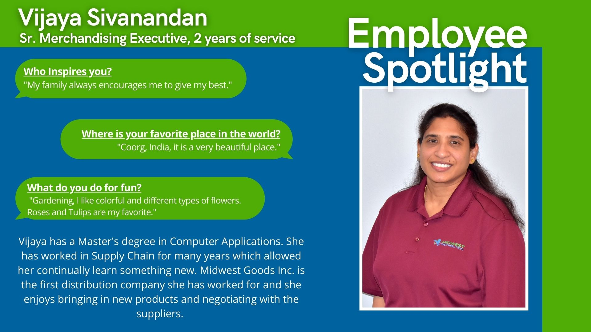 May 2021 Midwest Employee Spotlight