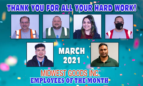 March 2021 Midwest Employees Of The Month