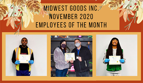 November 2020 Employees of the month