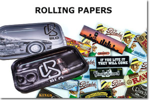 Wholesale Rolling Papers, Rolling Trays, & Accessories, Smoke Shop, Headshop, Dispensary Supplies
