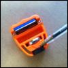 Set angle using arrow on base of tool