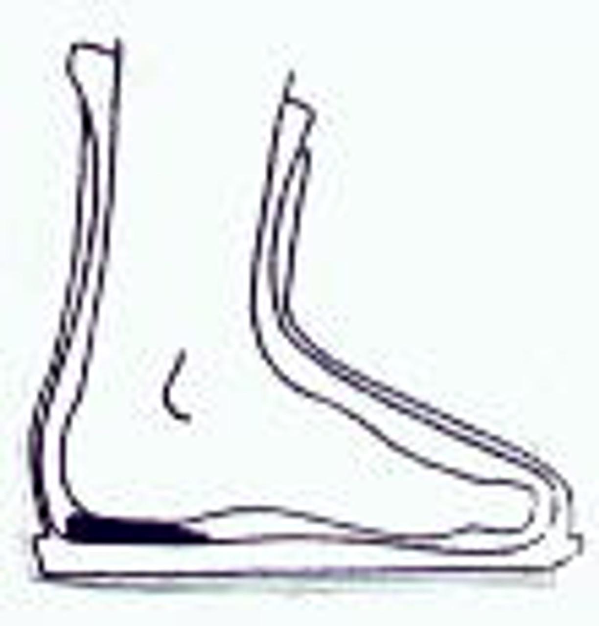 Diagram of Heel Lift Placement