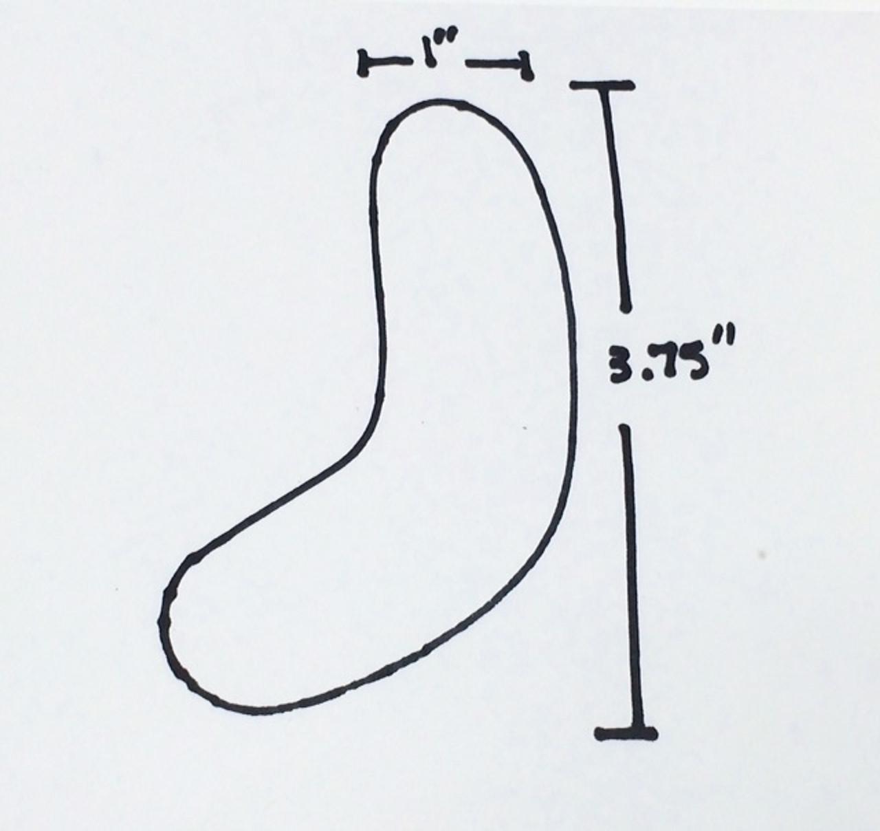 Ski Boot Foam L-Pad Dimensions