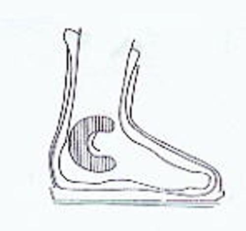 Ski Boot Foam Fitting C Pad Diagram