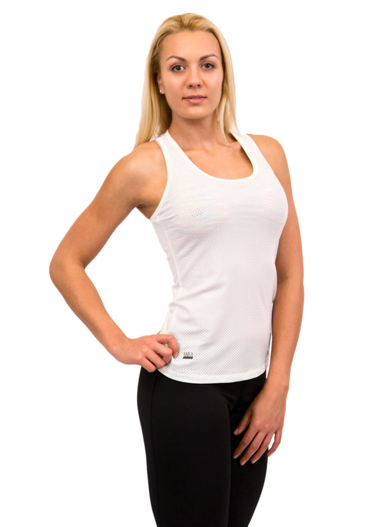 a6d8016781546d womens white singlet top