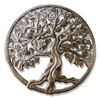 Carved Roots Round Metal Wall Art
