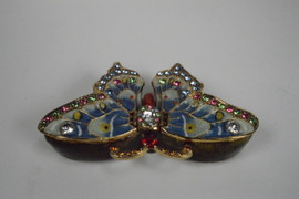 Beautiful Butterfly Jewelry Box with Necklace