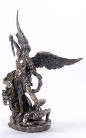 St. Michael Standing on Demon With Sword