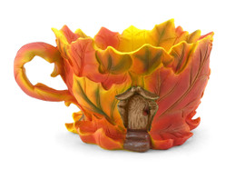 Maple Leaf Tea Cup Planter/House