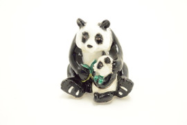 Poppa and Baby Panda Jewelry Box with Necklace