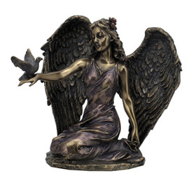 Angel Kneeling and Holding Dove