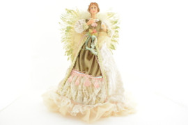 Pearl and Beige Lace Angel Tree Topper