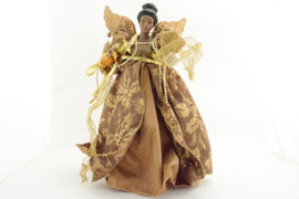 Brown and Gold Lace Angel Tree Topper