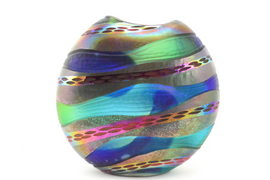Multicolored Metallic Circle Vase