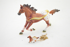 Appaloosa Horse Jewelry Box with Necklace