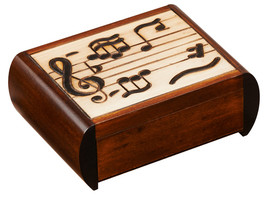 Trick Box with Music Notes M. Cornell