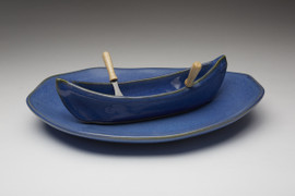 Azure Canoe on a Lake Gift Set