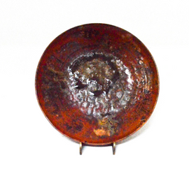 Brown and Red Plate