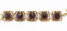 Amethyst Mixed Metal Bracelet