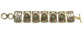 Aventurine Mixed Metal Bracelet