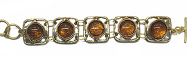 Amber Mixed Metal Bracelet