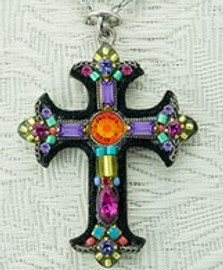 Large Mosaic Cross Necklace