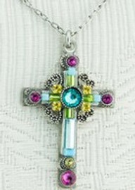 Light Turquoise Cross Necklace