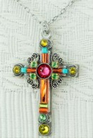 Tangerine Cross Necklace