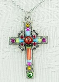 Multicolor Cross Necklace