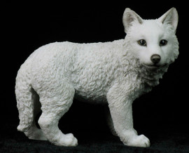 Wolf Cub Standing (White)