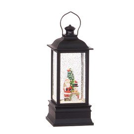 Santa and Snowman Lighted Water Lantern