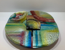Rainbow Round Cheese Plate